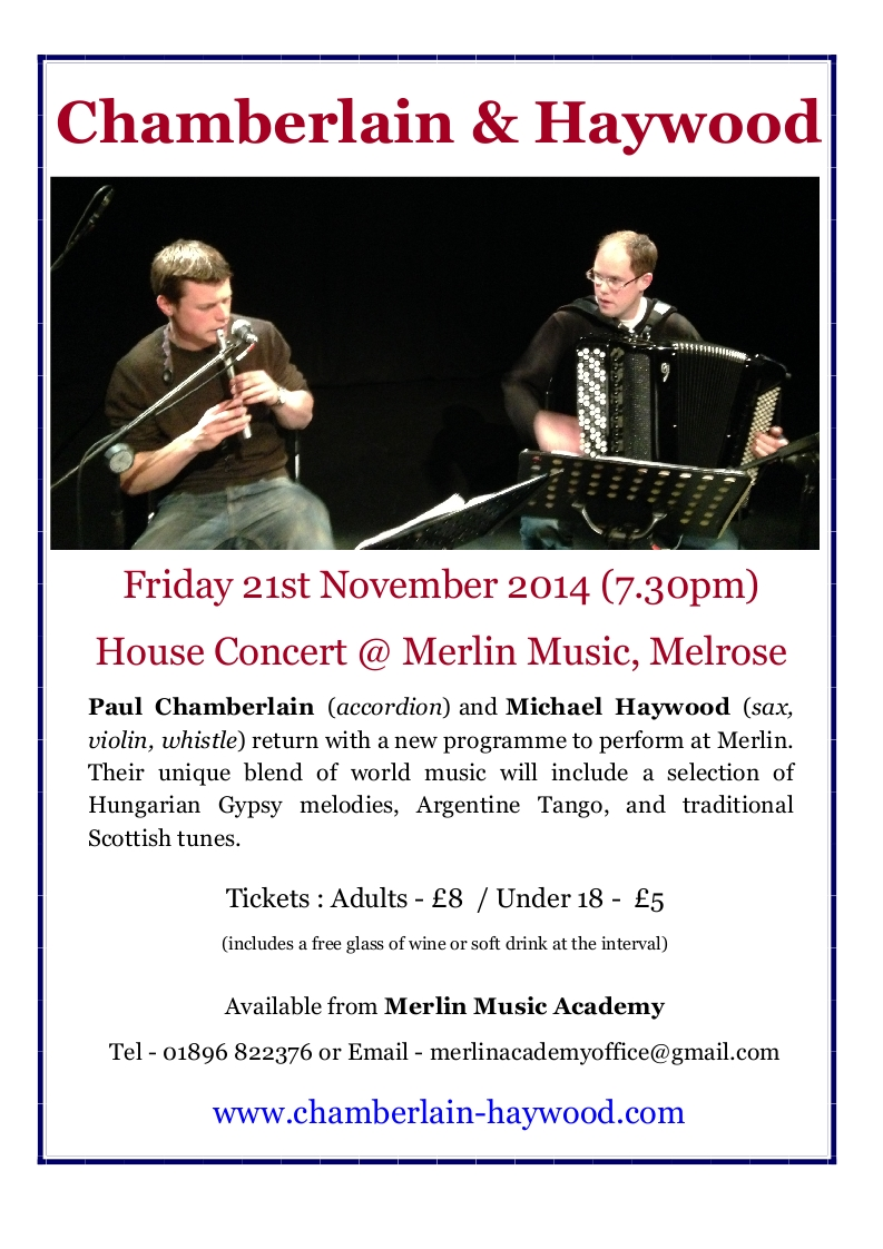 Chamberlain & Haywood - An exciting Scottish duo performing