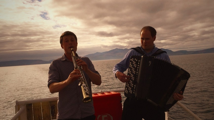Chamberlain & Haywood performing onbaord Caledonian MacBrayne Ferry